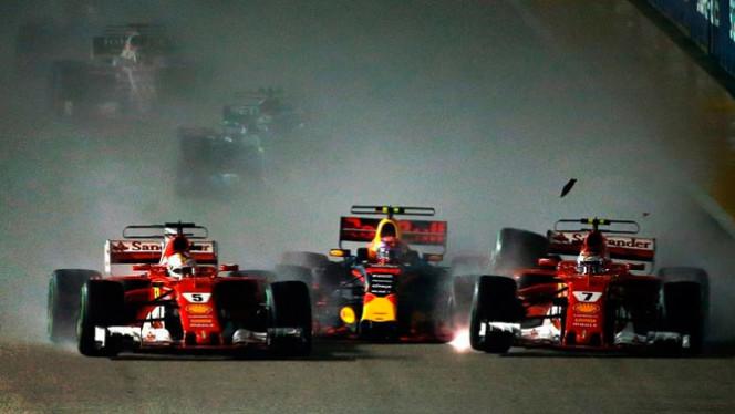 Largada GP de Cingapura 2017 de Formula 1
